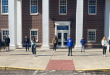MJHS students outside