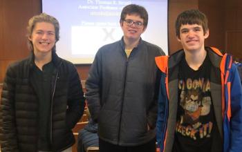 Three Freshmen at Latin Competition