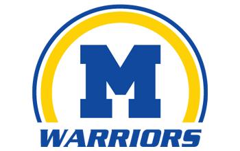 M Warriors Half Circle Logo