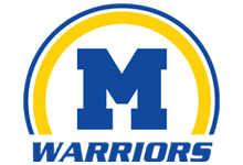 M Warriors Half Circle Logo