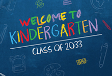 welcome to kindergarten graphic
