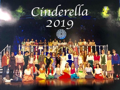 Theater students in the Cinderella 2019 play