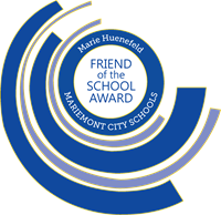 Marie Huenefeld Friend of the School Award logo