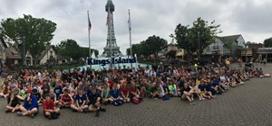 Students and teachers at Kings Island